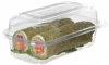 "9.5"" x 5"" x 3.5"" Hoagie Clear Hinged Clamshell"